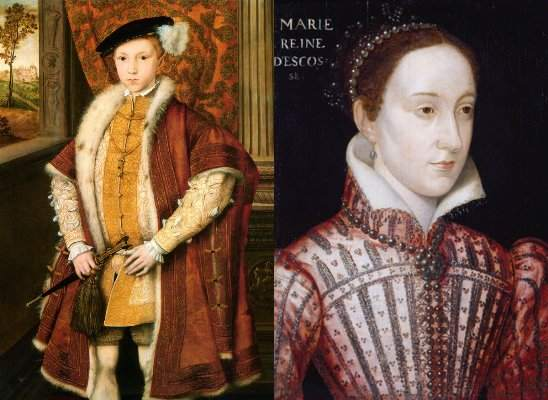 Edward VI and Mary, queen of Scots