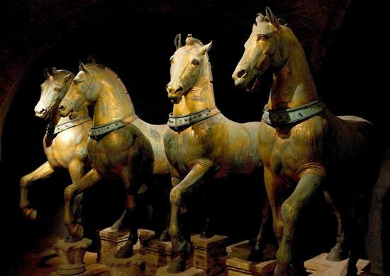 Horses of Basilica San Marco at the museum