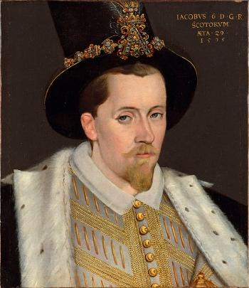 Jmaes I, son of Mary, queen of scots