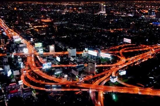 Makkasan Interchange at night