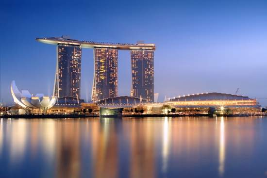 Marina Bay Sands in the evening