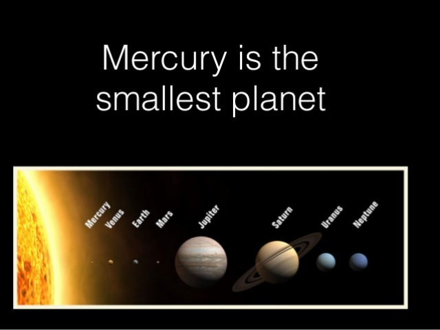 Mercury Is The Smallest Planet
