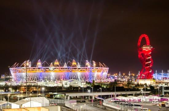 Olympic stadium and The Orbit during London Olympics 2012