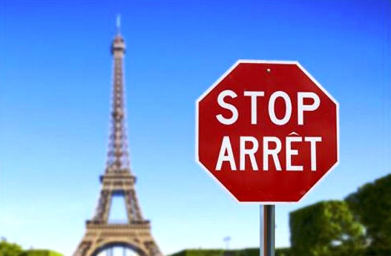 Paris Stop Sign