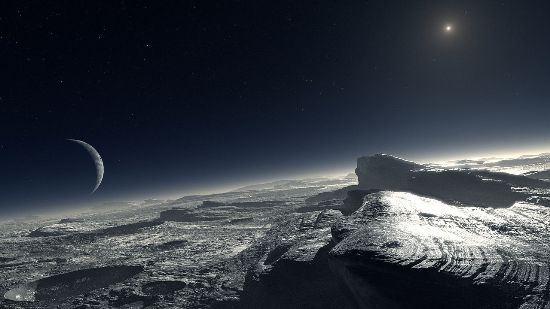 Pluto artist's impression
