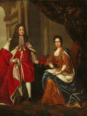 Portrait of Queen Anne of England and George Prince of Denmark