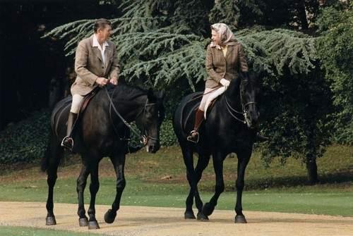 President Reagan and Queen Elizabeth II 1982
