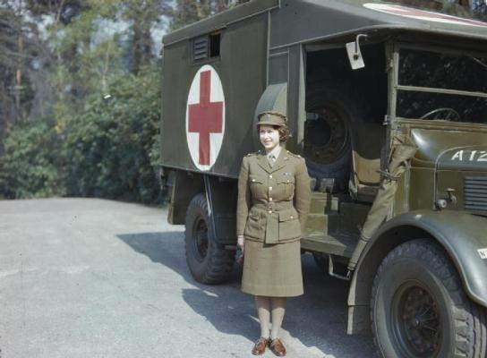 Princess Elizabeth in the Auxiliary Territorial Service, April 1945