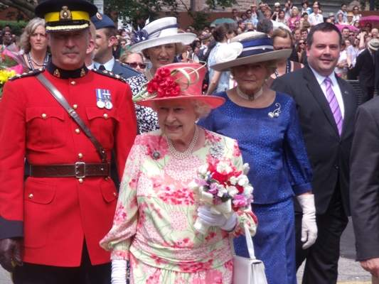 Queen Elizabeth during a royal walkout