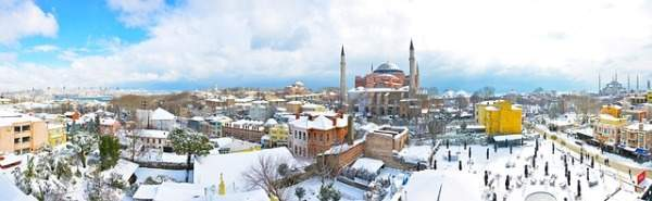 istanbul and snow