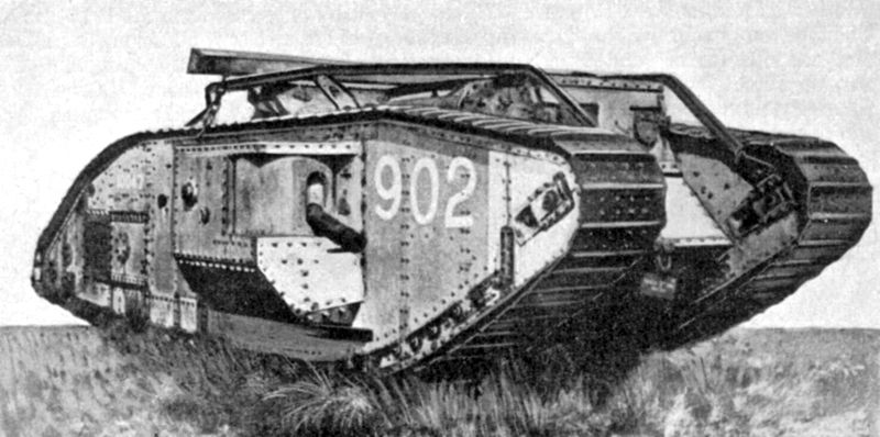 A British Tank During World War 1