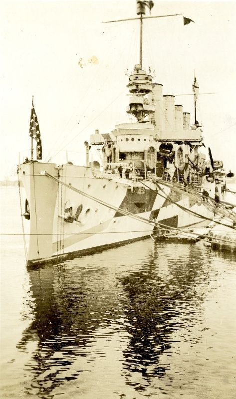 A Camouflage Ship During World War