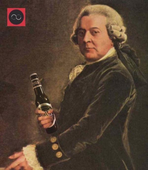 John Adams Drinking Alcohol