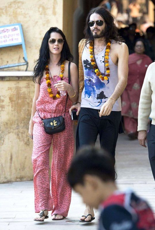 Katy Perry With Russell Brand In India