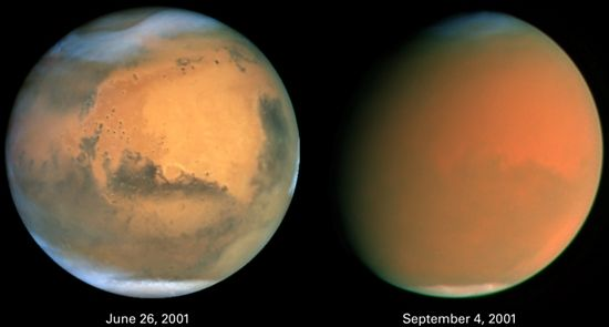 Mars duststorm