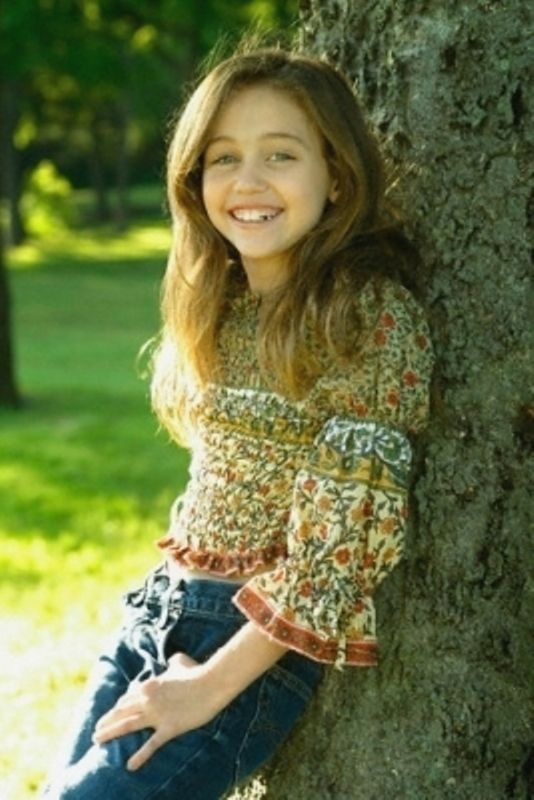 Miley Cyrus Childhood Photo