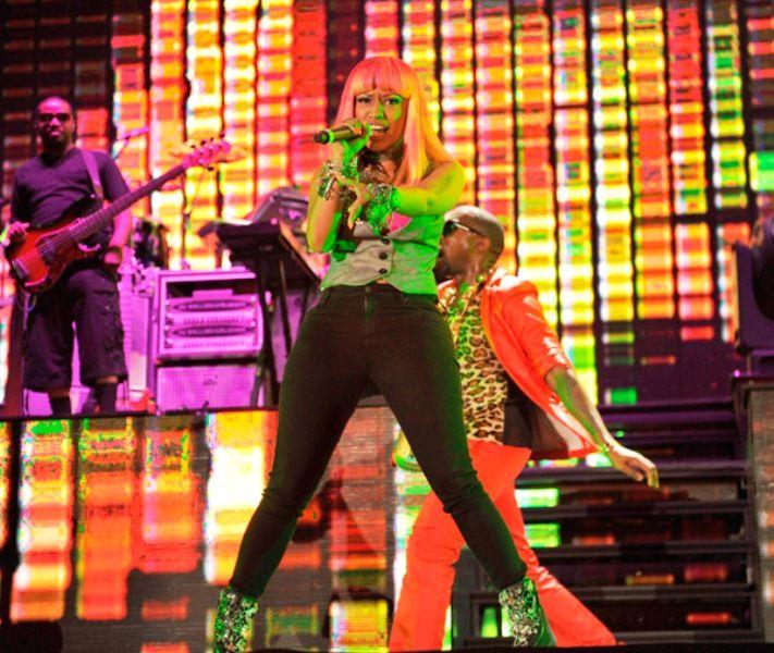 Nicki Minaj At Yankee Stadium