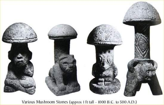 Psilocybe Mushrooms statues