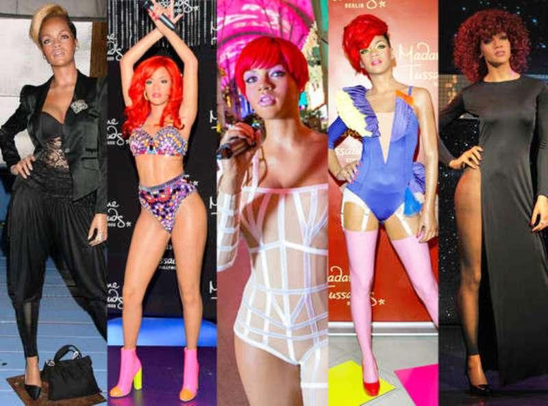Rihanna Wax Statues