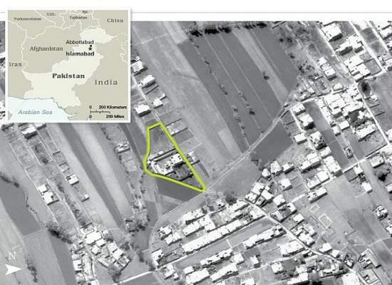 aerial view Osama bin Laden compound Abbottabad