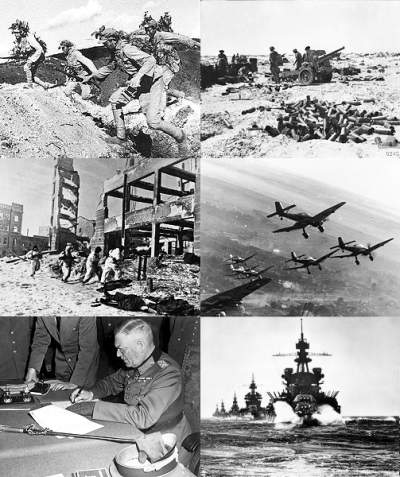 collage for WWII