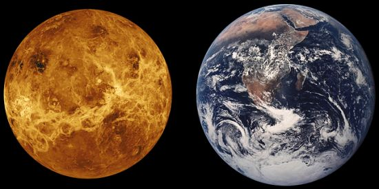 venus & earth