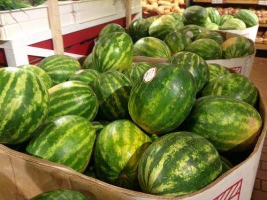 watermelon in market