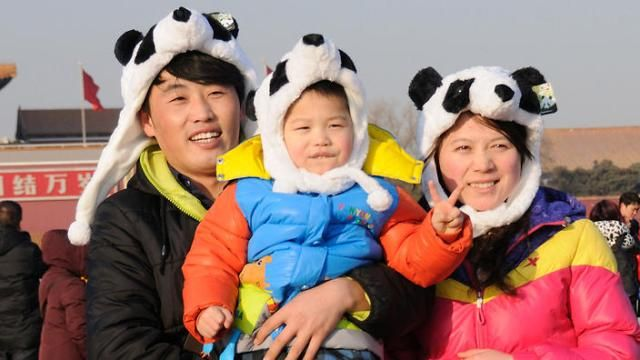 Chinese Family with one Child