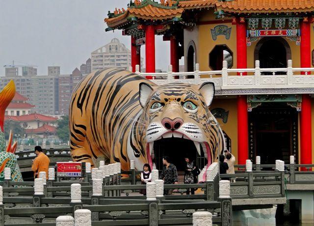 Tiger Pagoda in Kaohsiung, Taiwan
