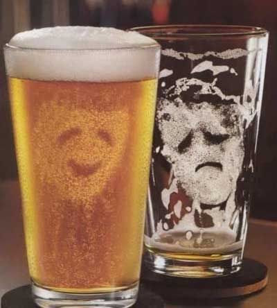 beer happy sad