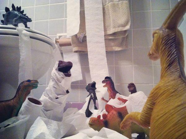 dino toilet