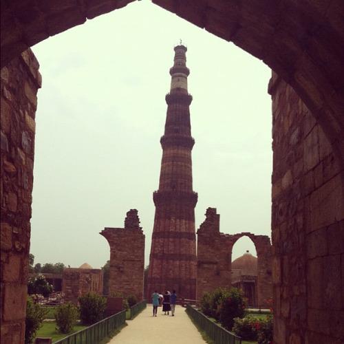leaning minaret