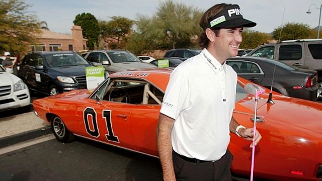 Bubba Watson with his car General Lee