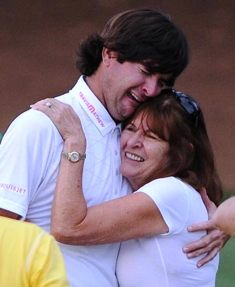Bubba Watson with his mother
