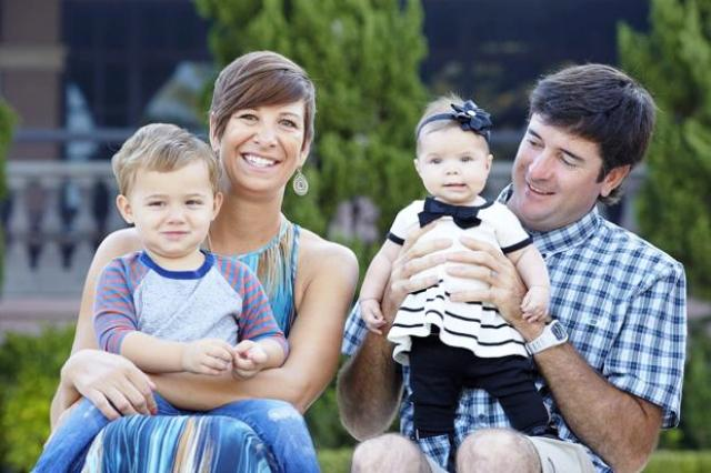 Bubba Watson with his wife and children