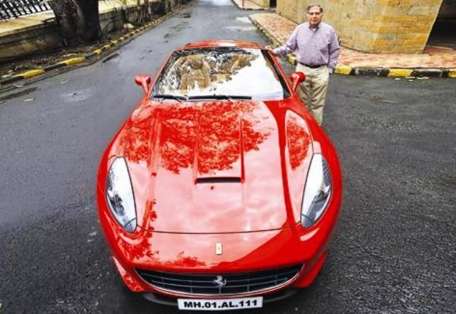 Ratan Tata with his Ferrari