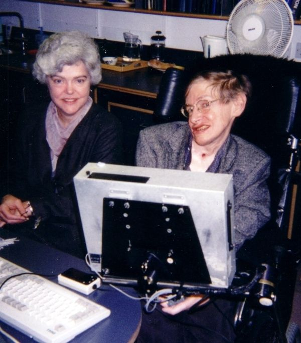 Stephen Hawking With Speech Synthesizer
