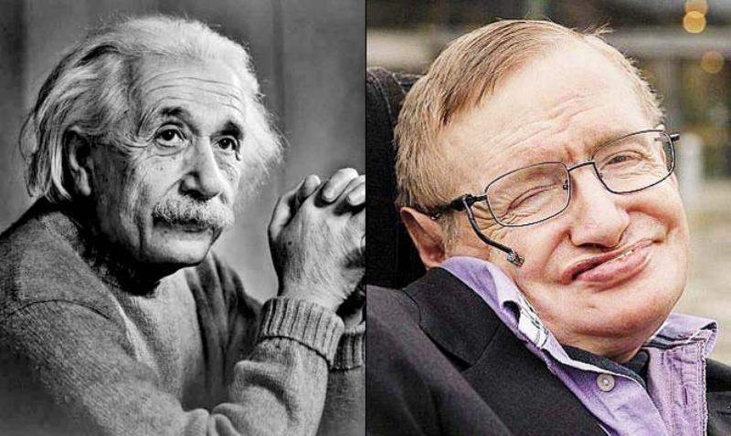 Stephen Hawking and Einstein