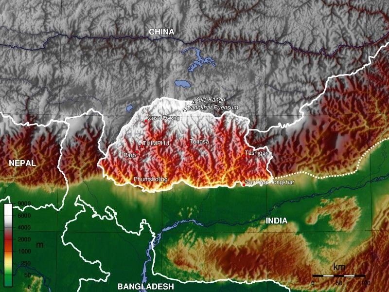 Bhutan Topography