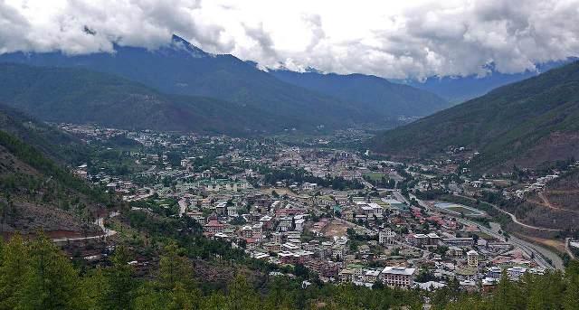 Panoramic view of Thimphu