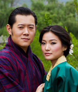 The Royal Couple Of Bhutan