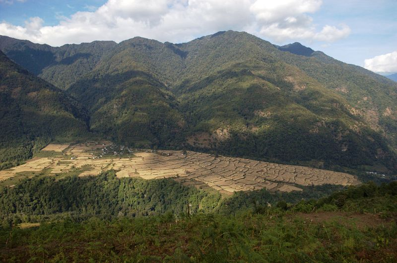 The Vast Paddy Of Nabji And Korphu In Bhutan