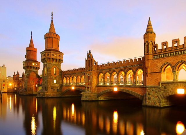 Berlin Oberbaum Bridge in Berlin Germany