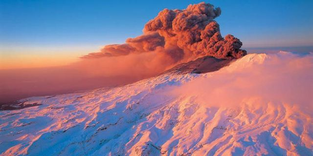 Mt. Ruapehu Eruption