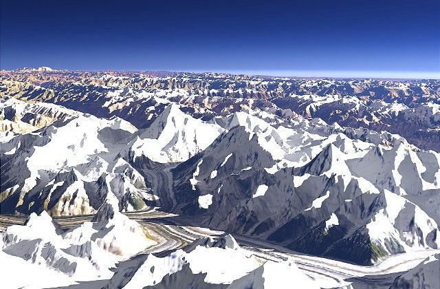 Karakoram Mountains Range
