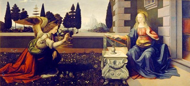 Leonardo Da Vinci earliest work Annunciazione