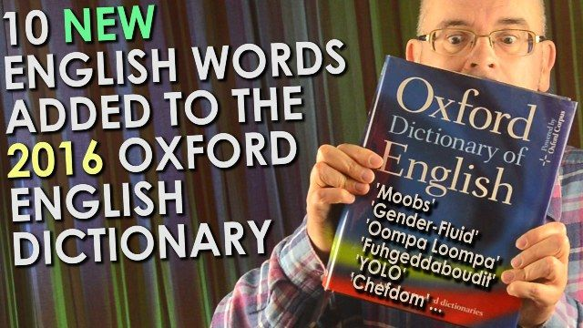 Words added to English dictionary
