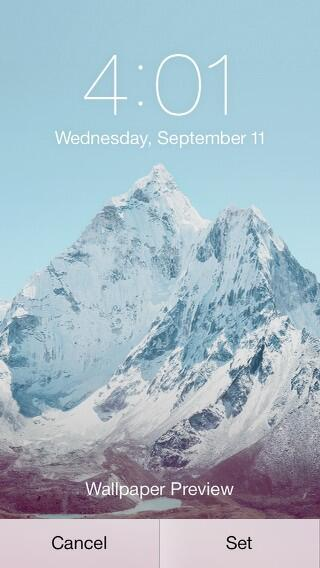 Ama Dablam Apple IOS7 Screen Pic