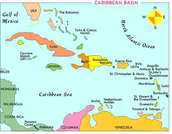 Aruba and Netherlands Antilles(Bonaire, and Curacao)