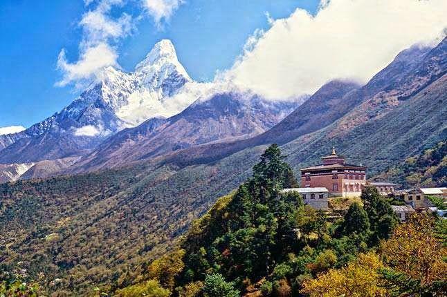 Beautiful Ama Dablam from Tengboche, Nepal